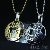 Wholesale Fashion High Quality Fashion Stainless Steel Round Shapped Necklace Pendant LPR47 from china suppliers
