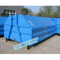 Buy cheap Inland factory supplied 7500 liters full sealed hooklift containers low price for sale from wholesalers