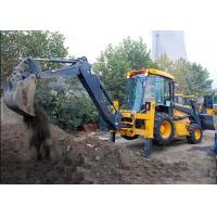 Wholesale Engineering Construction Compact Tractor Loader , 4WD Tractor Mounted Backhoe from china suppliers