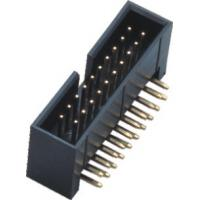 Wholesale Plastic Height 13.6 Curved Needle Box Header Connector 2.54 Pitch Brass Material from china suppliers