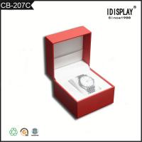 Wholesale Red Luxury Handmade Cardboard Gift Boxes / Women Watch Presentation Box  Classical Design from china suppliers