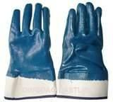 Wholesale Custom blue color Comfortable Oil proof cotton liner thick nitrile coated gloves from china suppliers