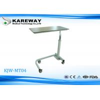 Wholesale Compact Panel Hospital Overbed Table With Hydraulic Mechanism KJW-MT04 from china suppliers