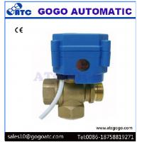 Wholesale DN20 3/4 3 Way T Flow Mini Electric Actuator Ball Valve , Water Treatment Electrically Operated Ball Valves from china suppliers