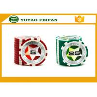 Quality Round Customised Poker Chips Plastic Game Poker Chips With Laser Star Stickers for sale