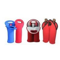 Wholesale Hot-selling High quality Neoprene Wine holder Water bottle bag two-Bottle holder from china suppliers