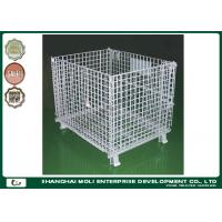 Wholesale Zinc plating Wire Storage Containers heavy duty rigid rolling collapsible wire cage from china suppliers