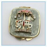 Wholesale Handmade fairground ride apparatus diamond metal pocket mirrors from china suppliers