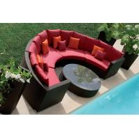 Wholesale outdoor patio half round sofas WS-010 from china suppliers