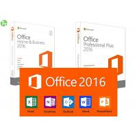 Wholesale Microsoft Office 2016 Home And Business Software PKC / Retail Version On Stock from china suppliers