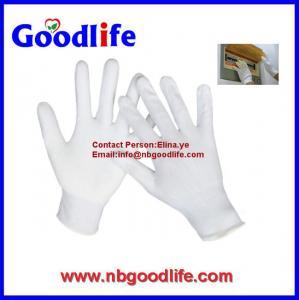Buy cheap 100% White Nylon Glove With PU / High Quality Nylon PU Glove from wholesalers