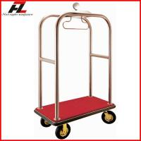 Buy cheap Luxury Hotel Lugagge Bellman Cart in Rose Gold /Stainless Steel Luggage Cart from wholesalers