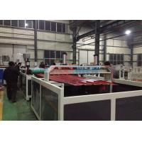 Wholesale 0.8 ~ 3mm Roofing Sheet Plastic Double Screw Extruder Machine With Stacker from china suppliers