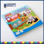 Durable children board Book Printing , two 350gsm cardboard mounted / die cut
