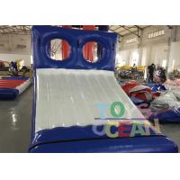 Wholesale Blue / White Inflatable Sports Game 0.9mm PVC Tarpaulin Water Slide Game For Park from china suppliers