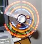 Wholesale PC / ABS orange LED flexible USB folding fan with Logo printing for promotion gift from china suppliers