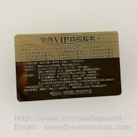 Quality Customized metal business cards print etched metal cards in mass production for sale