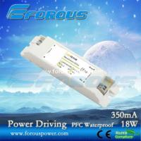 Wholesale PFC 350mA18W Constant Current Led Power Supply Ce Ul,UL power driver,led down light driver from china suppliers