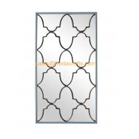 Wholesale Direct Factory Price Nice Design Rectangle Wall Mirror With Metal Decorative Antique Gold Wall Mirror from china suppliers