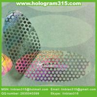Wholesale custom warranty silver sheet packing void normal hologram sticker, honeucomb sticker label printing from china suppliers