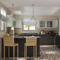 Wholesale Aluminium Frame Laminate Plywood Kitchen Cabinets L Shaped With Glass Doors from china suppliers