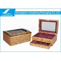 Wholesale Decorative Laser Cut Wooden Jewelry Gift Packaging Box Two Layer With Mirror from china suppliers