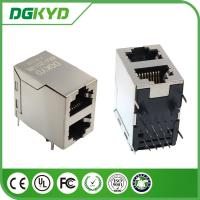 Wholesale 2 x 1 Stacked RJ45 Modular Jack from china suppliers
