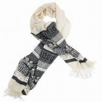 Wholesale Scarf with printing, tassel spike, classic and easy to match, fashionable/lovely design from china suppliers