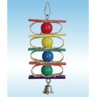 Wholesale natural corn husk and wooden beads bird toy perfect for shredding from china suppliers