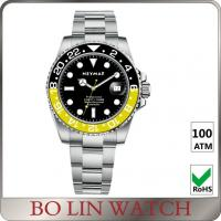 Wholesale Modern Mens Black And Silver Watches , Durable Gents Dress Watch OEM from china suppliers