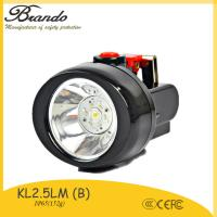 Wholesale 120g light weight miner cap lamp with 2.8Ah  high quality miners construction cordless cap lamp from china suppliers