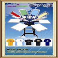 Six color manual screen printing machine for t shirts of for Screen printing machine for t shirts for sale