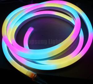 Buy cheap 24v digital rgb led neon flex chasing strip 5050 SPI programmable lights from wholesalers