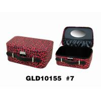 Wholesale Elegant Red Square Mirrored Leather Jewelry Box With Handle from china suppliers