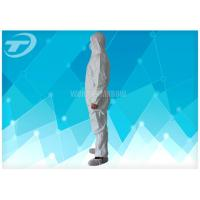 Wholesale Durable Non Woven Fabric Disposable Coverall Suit White Chemical Resistant Coveralls from china suppliers