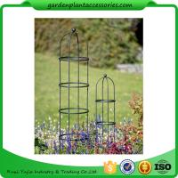 """Wholesale Tall Round Decorative Garden Plant Trellis Matte Black Color For Climbing Plant 5' Trellis is 9-3/4"""" in diameter x 5' H from china suppliers"""