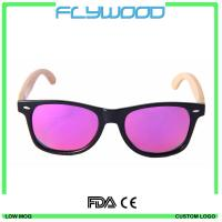 2016 OEM bamboo wood arms sunglasses 2016 cheap wholesale sunglasses China custom logo crystal sunglasses