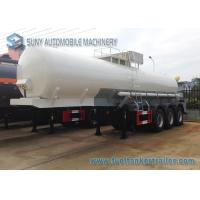 Wholesale Transport Sulfuric Acid 30000L Oil Tank Trailer 3 Axle With Cylinder Shaped from china suppliers