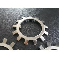 Wholesale SS304 SS316 MS Steel Lock Washer With External Teeth Serrated , Natural Color from china suppliers