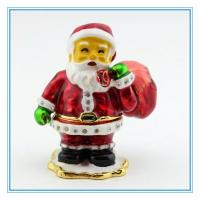 Wholesale Metal Santa Claus Trinket box for Christmas Decoration from china suppliers