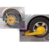 Wholesale Manual Car Wheel Clamp , yellow Anti - theft parking wheel lock With 2 Keys from china suppliers
