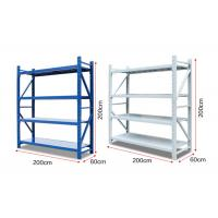 Buy cheap 4 layers Metal Materials Light Duty Racks Warehouse Storage Racks from wholesalers