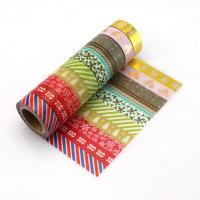 Quality decorative japanese paper tape washy tape,washi tape sets of 10 rolls for sale