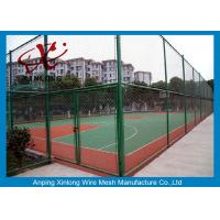 Wholesale 40*40mm Dark Green Chain Link Wire Fence for Forest Protecting / Football Ground from china suppliers