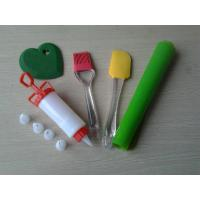 Wholesale 5pcs Flexible PS Silicone Baking Set , Green Silicone Mold Bakeware For Christmas from china suppliers