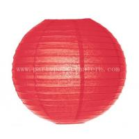 Wholesale Environment - friendly 6 Inch Red Paper Lanterns For Wedding Centerpieces from china suppliers
