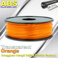 Wholesale ABS Desktop 3D Printer Plastic Filament Materials Used In 3D Printing Trans Orange from china suppliers