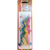 Wholesale Novel Swirl Shaped Shaped Birthday Candles 5 Colors Pink Blue Yellow Green White from china suppliers