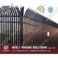 "Wholesale ""W"" profile pale Steel Palisade Fencing from china suppliers"