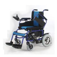Quality Steel / Aluminum Outdoor Electric Wheelchair Lightweight Folding Intelligent Controlled for sale